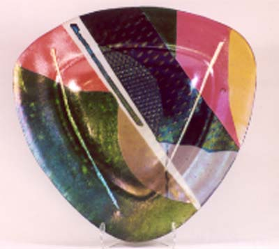Triangular platter 14&half inches